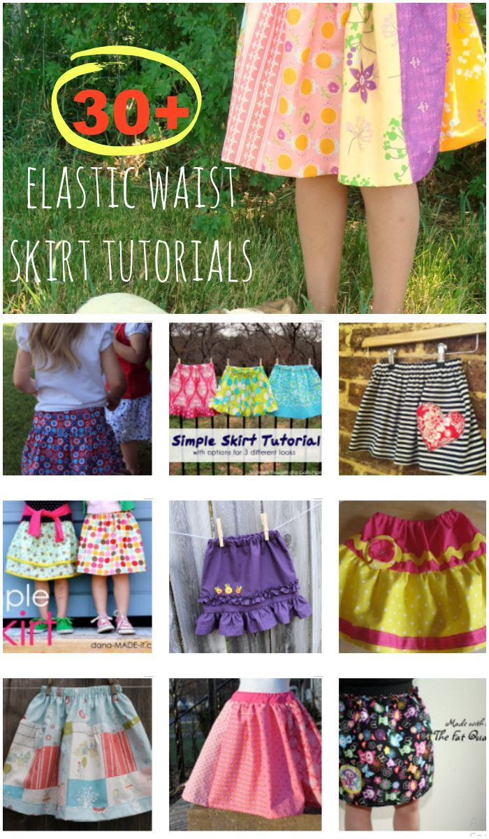 30+ Elastic Waist Skirt Tutorials {little girl summer skirts} -these are so cute.  My favorites are the patchwork ones.