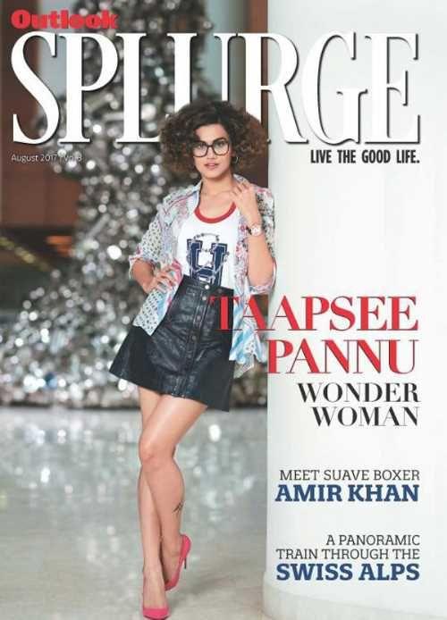 Pic Talk: Taapsee's Hot Avatar In Black Stylish Skirt