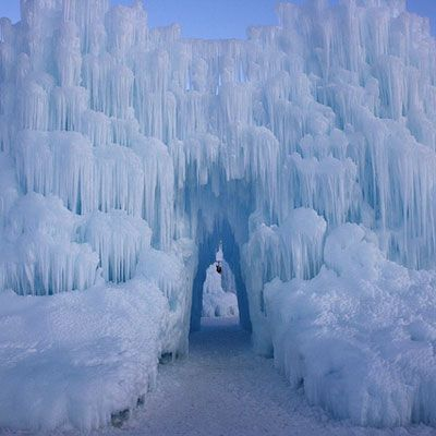 Ice Castles at Silverthorne in Colorado gonna have to check this out