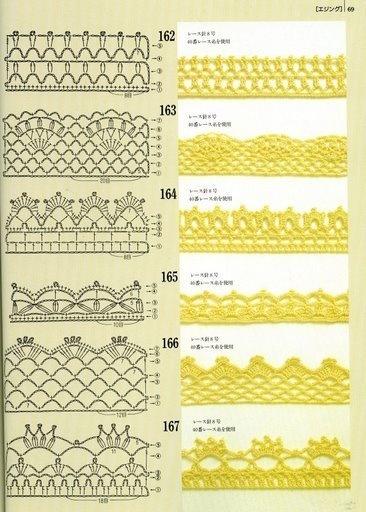 Terminacion crochet 162-163-164-165-166-167 patrones