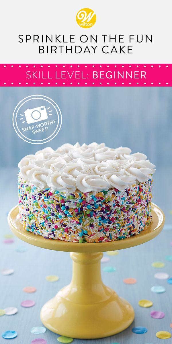 Jedes besondere Fest verdient einen tollen Kuchen! Mit diesem Sprinkle on the Fun B …   – Snap-worthy Sweets
