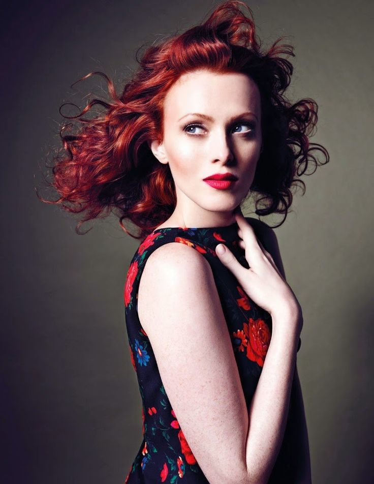 Karen Elson wears Céline in 'Blooming Glory' by Marcin Tyszka for Vogue Thailand, March 2015.