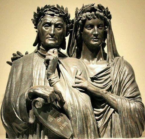 Virgilio acompaña a DANTE EN EL PURGATORIO (Purgatorio yo. 71). Museo de bellas artes, Boston