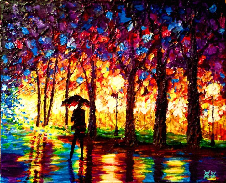 Blind Painter Relies on Touch and Texture to Create Stunningly Vivid Paintings - My Modern Met