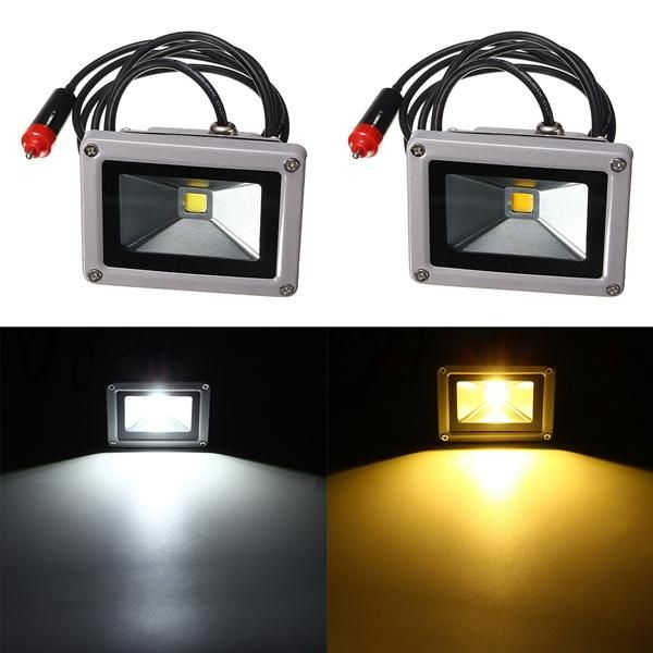 10w 12v Led Flood Spot Lightt Work Lamp With Car Charger Waterproof For Camping Travel Work Lamp 12v Led Led Flood Lights