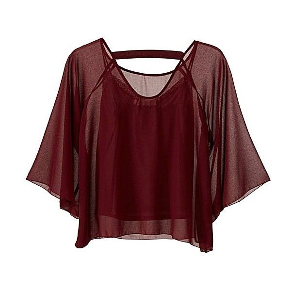 Traffic People Fluted Blouse ❤ liked on Polyvore featuring tops, blouses, sleeve blouse, cami top, red cami, traffic people and red top