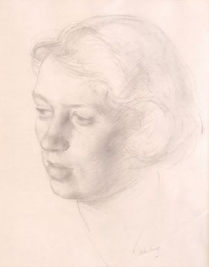 Ron Stenberg. 'Portrait Study of Frances' (1967) Graphite pencil on paper, 370 x 300 mm, POA at the Remuera Gallery