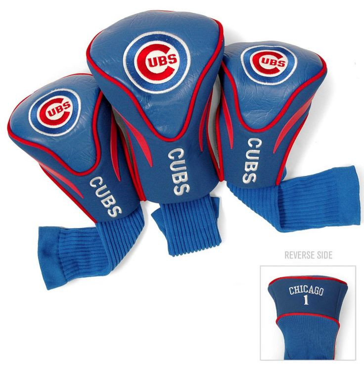 Chicago Cubs 3 Pack Golf Head Covers-TG