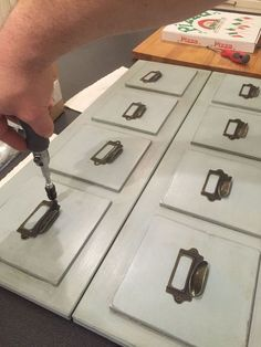 ikea hack turn a tarva dresser into an apothecary style. Black Bedroom Furniture Sets. Home Design Ideas