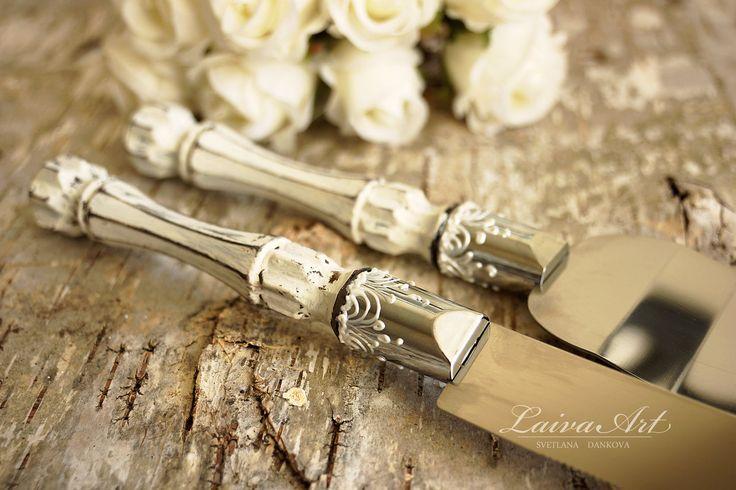 Rustic Wedding Cake Server Set & Knife Cake Cutting Set Wedding Cake Knife Set Wedding Cake Servers Wedding Cake Cutter Cake Decoration - pinned by pin4etsy.com