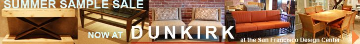 Leaderboard Banner Ad for Dunkirk Showroom (San Francisco Design Centrer) by PopDrop Design.