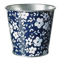 MUSKOTNÖT Plant pot, blue patterned - IKEA