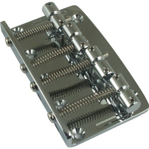 Gotoh Vintage Style Bass Guitar Bridge (4-String) Chrome. Superior high quality and precision made. This is for those who demand only the best for their Bass without breaking the bank. Hardware included. Direct replacement for most Fender P-Bass and Jazz Bass guitars. Mounting screws included.