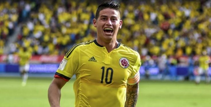 At just age 25 James Rodriguez is 7 goals away from being Colombia's top ever goalscorer. (Falcao is first.)