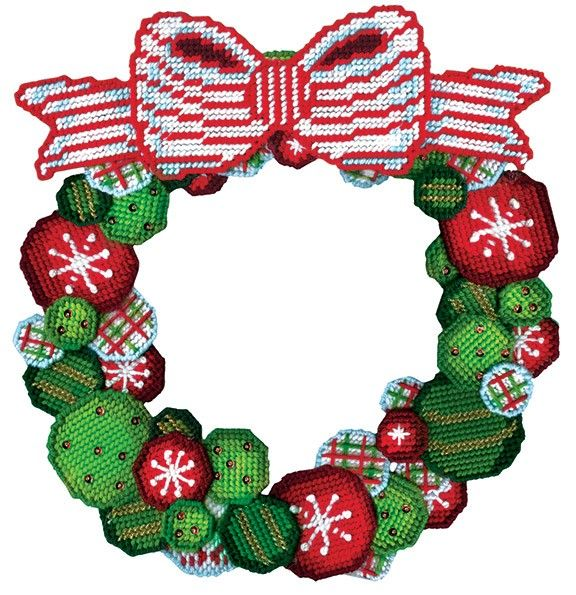 Make this wreath for your Christmas decorating. Plastic canvas kit