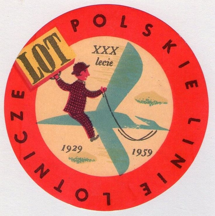 ORIGINAL 1929-1959 POLISH / POLAND LOT AIRLINE LUGGAGE LABEL in Collectibles, Transportation, Aviation | eBay