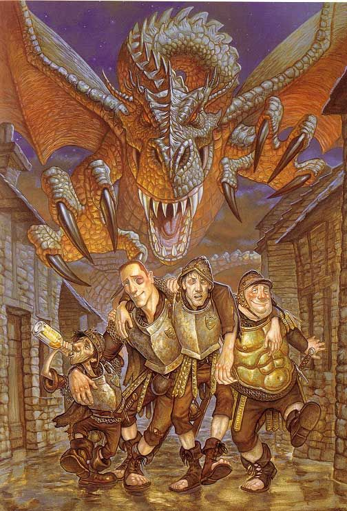 Terry Pratchett's Discworld series from Guards Guards