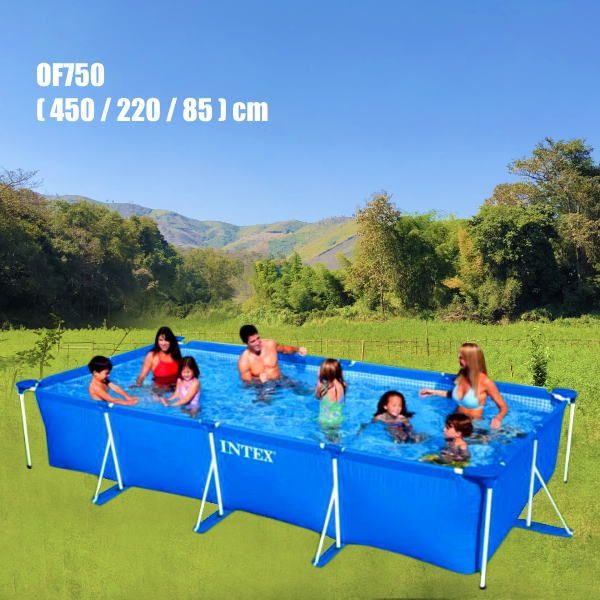 楽天市場 大きい家庭用プール 長方形フレーム型スーパータフプール