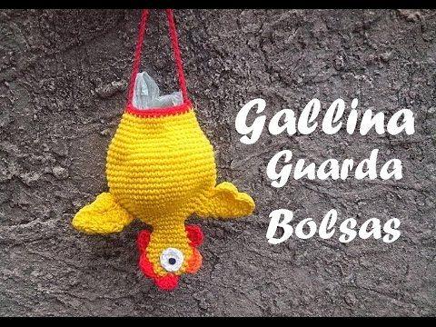 Crochet gallina guarda bolsas - Paso a paso