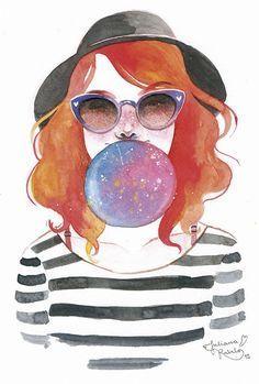 Juliana Rabelo cria ilustrações em aquarela que transbordam sensibilidade e…: