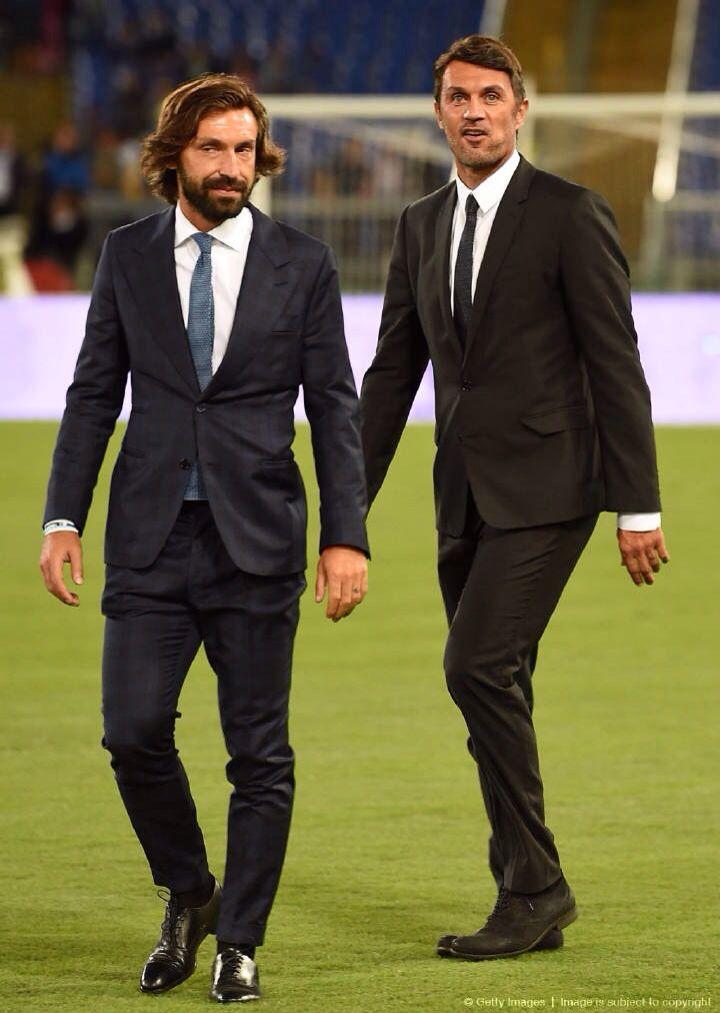 Andrea pirlo and Paolo Maldini