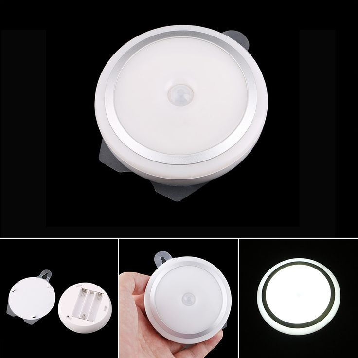 New Arrival Infrared PIR Motion Detector Wireless Sensor LED Light Lamp With Hook by 3 AAA battery #Affiliate
