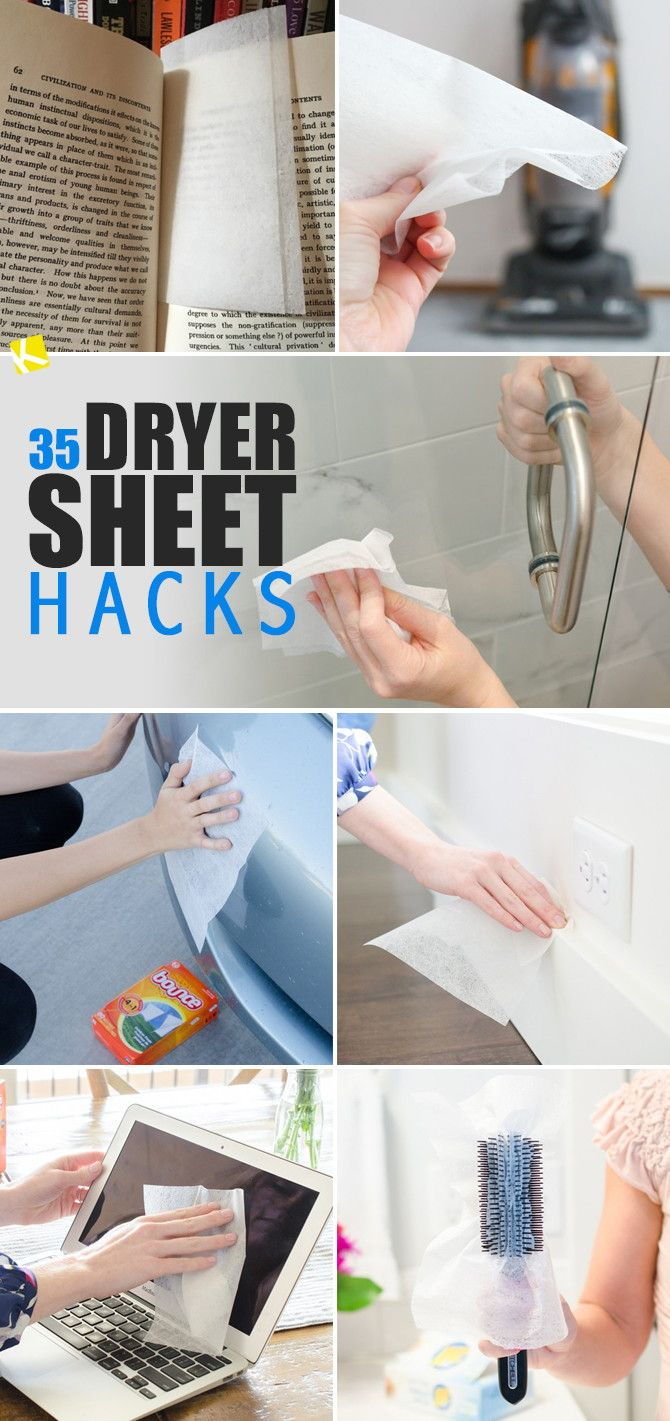 Did you know dryer sheets can make your life easier well beyond the laundry room? Check out the best dryer sheet hacks out there.