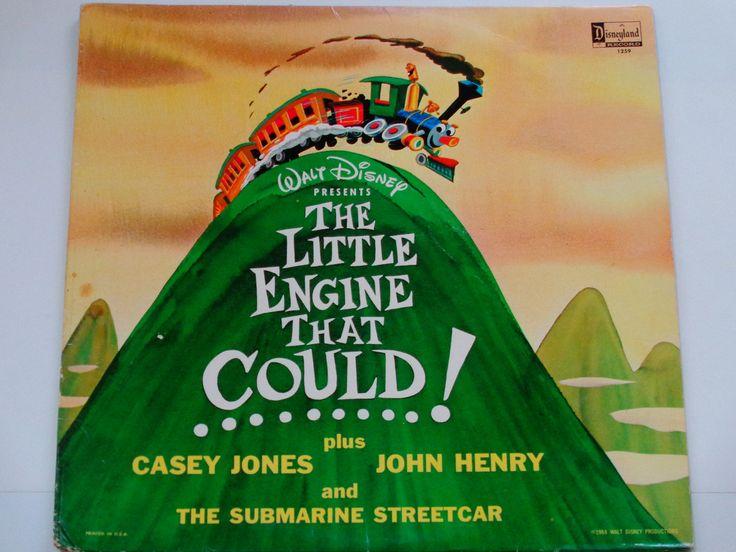 The Little Engine That Could - Walt Disney - Casey Jones - John Henry - Disneyland Records 1964 - Vintage Children's Vinyl LP Record Album by notesfromtheattic on Etsy