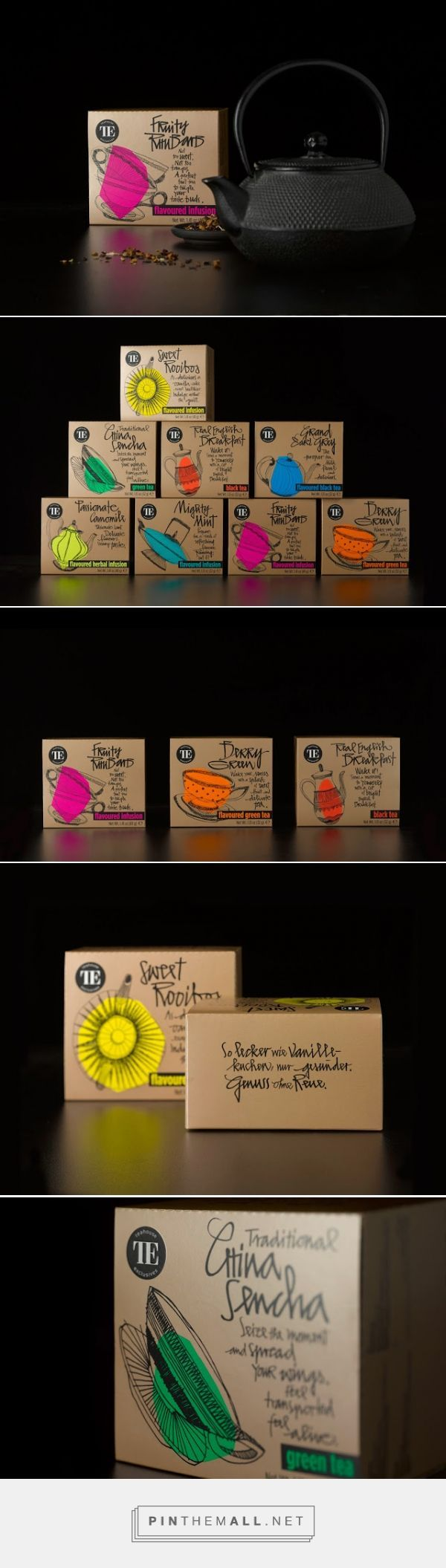 Teahouse Exclusives - Everyday Line #packaging designed by Peter Schmidt Group - http://www.packagingoftheworld.com/2015/03/teahouse-exclusives-everyday-line.html