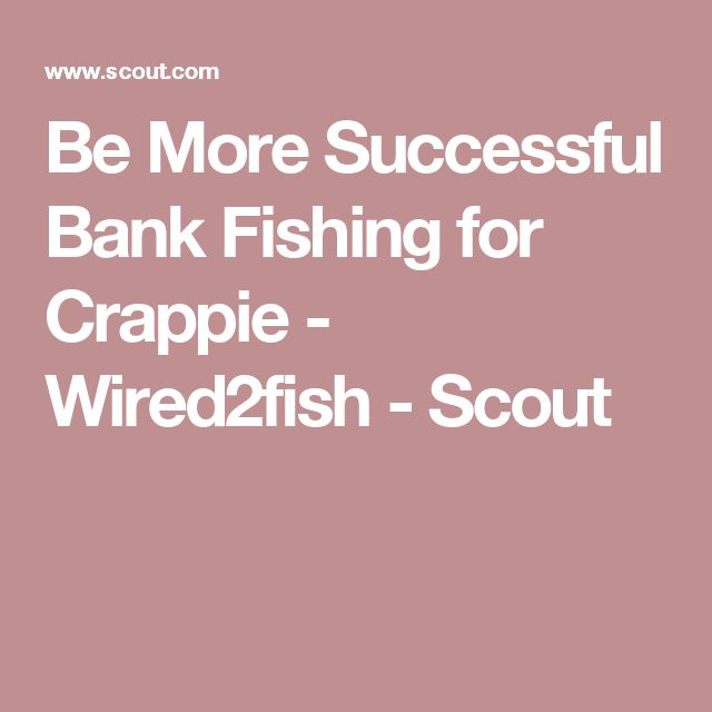 17 best ideas about crappie fishing on pinterest for How to fish for crappie from the bank