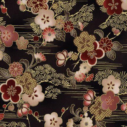 Robert Kaufman Fabrics: HRK-551101L-6 from Hyakkaryouran Sateen