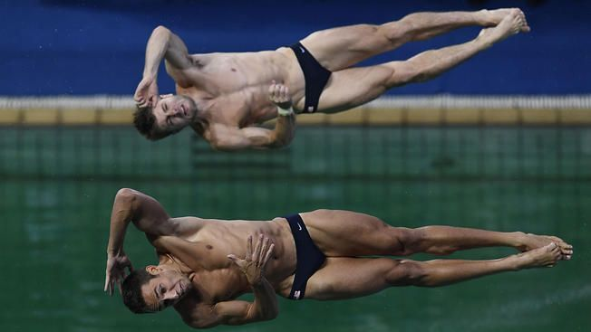 Indiana University's Michael Hixon is making his Olympic debut alongside partner Sam Dorman Wednesday.