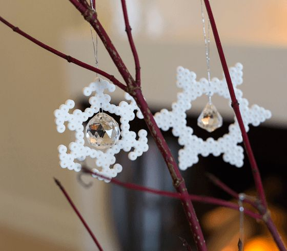 Ice crystal ornaments - DIY