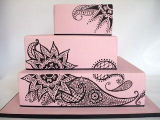 Mehndi Inspired Cake : Best henna cakes images cake descendants