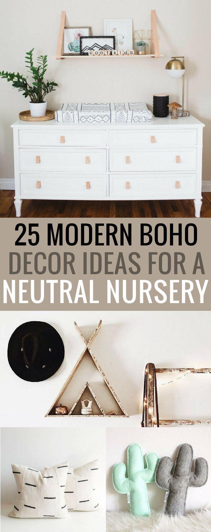 25 modern boho decoration ideas for your baby's nursery