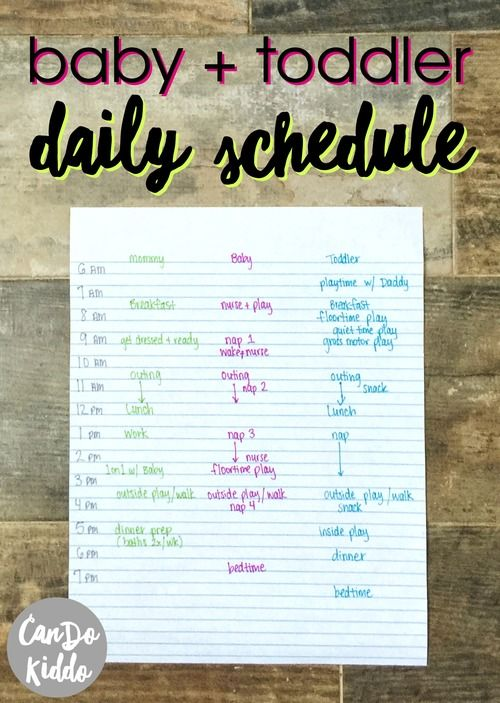 Baby and toddler schedule. www.CanDoKiddo.com
