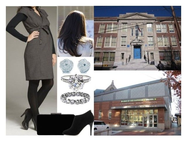 """""""Visiting Clarence R. Edwards Middle School and Cathedral High School"""" by hanaofbelgium ❤ liked on Polyvore featuring Boucheron, Tiffany & Co., John Lewis and Jimmy Choo"""