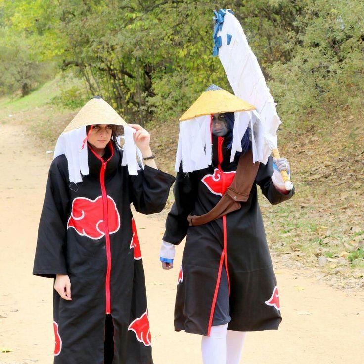 Fem Itachi and Fem Kisame. (Genderbend Cosplays)  Cosplayers:  WarGreyLeonhart as Fem Itachi  Aoki/Lady Luka Cosplay as Fem Kisame   Photographer: Tim Morty