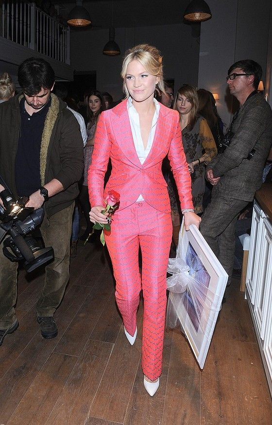Love this colourful suit by Simple.
