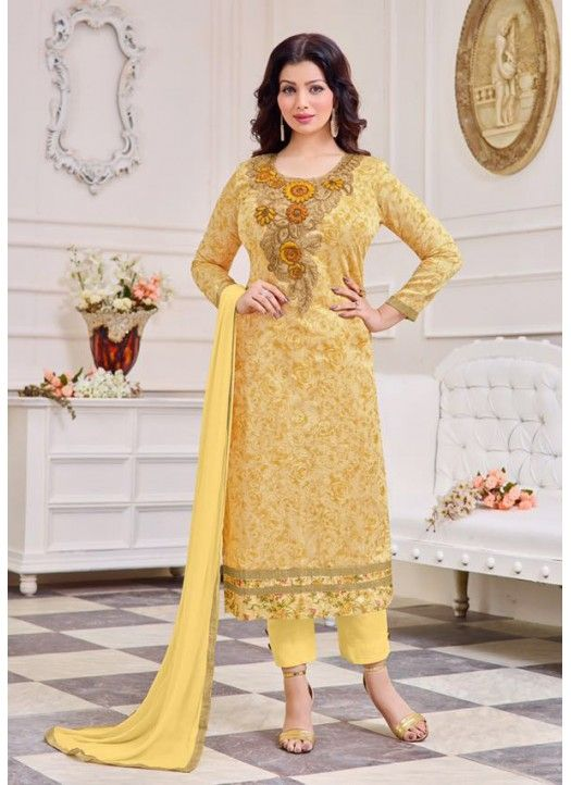 Ladies Flavour presents new #Ayesha Takia Cotton Satin #Salwar Suit for Women Clothing.  Phone No.: +91-7046399899  Email : ladiesflavour1008@gmail.com