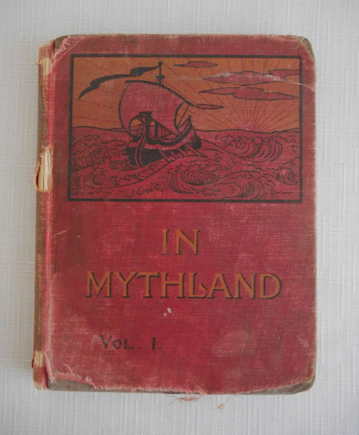In Mythland, Vol. 1, First Edition, Red Mythology Book, 1896 by Mary Helen Beckwith, Educational Publishing Co, Illustrated Library Book by CactusWrenVintage on Etsy