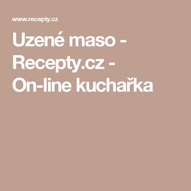 Uzené maso - Recepty.cz - On-line kuchařka