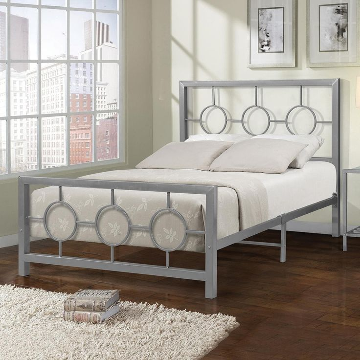 Home Source Eternity Circle Design tone Full-size Bed Frame