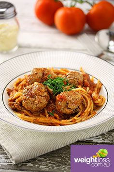 Slow Cooker Spaghetti Meatballs. #HealthyRecipes #DietRecipes #WeightLossRecipes weightloss.com.au