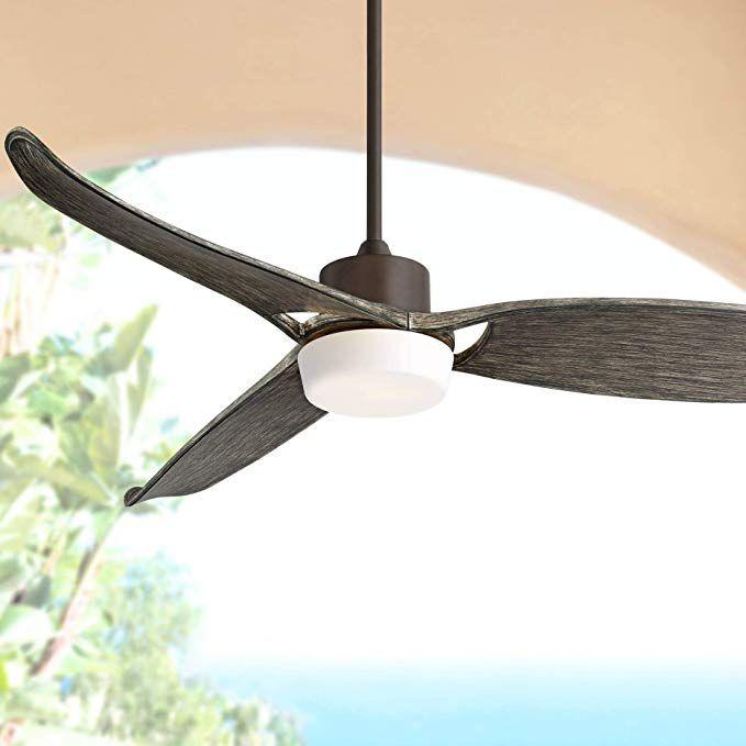 60 Eurostyle Bronze Indoor Outdoor Led Ceiling Fan Amazon Com Led Ceiling Fan Ceiling Fan Ceiling Fan Design