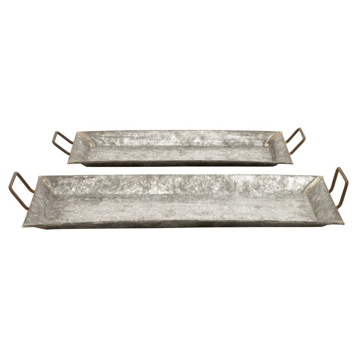 Farmhouse Rustic Serving Tray Set 2ct - Olivia & May,