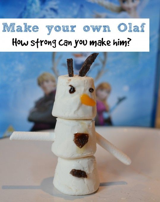 Design and build Olaf, what's the best material to stick him together with #Olaf #Frozen