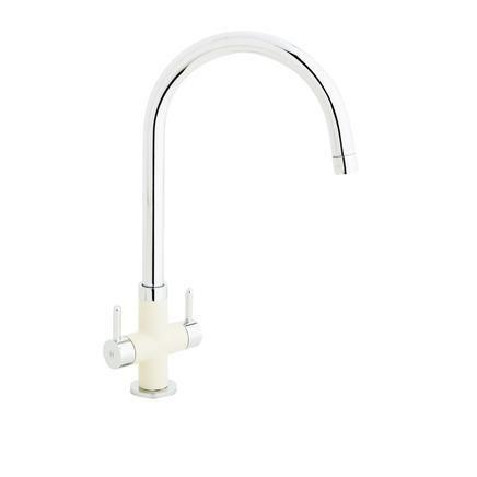 Lamona Cream Calaggio swan neck monobloc tap