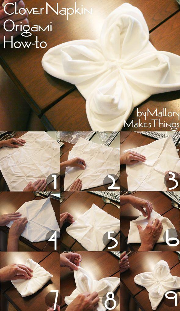 Pliage serviette