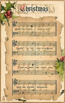Christmas music sheet    (via (5) Bonnie Anne Pinard / Pinterest)